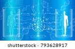 abstract background technology... | Shutterstock .eps vector #793628917