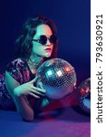 sexy disco party woman.... | Shutterstock . vector #793630921