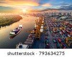 logistics and transportation of ...   Shutterstock . vector #793634275