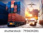 logistics and transportation of ... | Shutterstock . vector #793634281