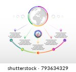 infographics with five options. ... | Shutterstock .eps vector #793634329