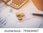 bank saving deposit account and ... | Shutterstock . vector #793634407