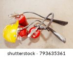 safety equipment and tools  ... | Shutterstock . vector #793635361