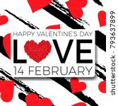 happy valentine's day... | Shutterstock .eps vector #793637899