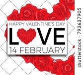 happy valentine's day... | Shutterstock .eps vector #793637905