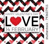 happy valentine's day... | Shutterstock .eps vector #793637911