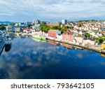 vagen old town aerial panoramic ... | Shutterstock . vector #793642105