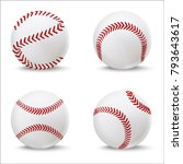 realistic detailed 3d baseball... | Shutterstock .eps vector #793643617