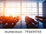 empty airport terminal lounge... | Shutterstock . vector #793654765