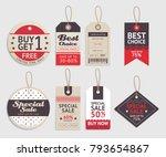 price tags label design set.... | Shutterstock .eps vector #793654867