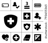 plus icons. set of 13 editable... | Shutterstock .eps vector #793655365