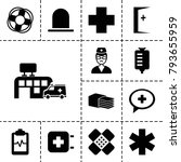 emergency icons. set of 13... | Shutterstock .eps vector #793655959