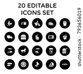 fast icons. set of 20 editable... | Shutterstock .eps vector #793656019