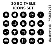 eat icons. set of 20 editable... | Shutterstock .eps vector #793656055