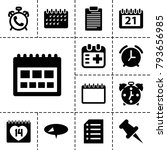 reminder icons. set of 13... | Shutterstock .eps vector #793656985