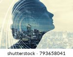 ai artificial intelligence ... | Shutterstock . vector #793658041