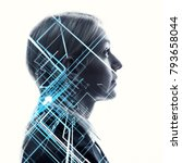 ai artificial intelligence ... | Shutterstock . vector #793658044