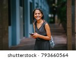 portrait of young and... | Shutterstock . vector #793660564