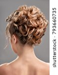 woman with trendy hairstyle | Shutterstock . vector #793660735