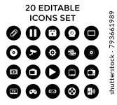 video icons. set of 20 editable ... | Shutterstock .eps vector #793661989