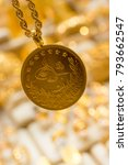 plenty of geniune turkish gold... | Shutterstock . vector #793662547