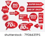 sale collection of rad discount ... | Shutterstock .eps vector #793663591