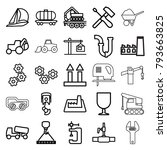 industrial icons. set of 25... | Shutterstock .eps vector #793663825