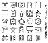 board icons. set of 25 editable ... | Shutterstock .eps vector #793663975
