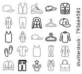 casual icons. set of 25... | Shutterstock .eps vector #793664581
