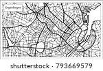 copenhagen map in black and... | Shutterstock . vector #793669579