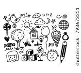 children hand draw doodle icon | Shutterstock .eps vector #793673251