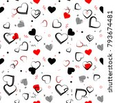 Heart Seamless Pattern.colorfu...