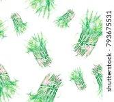 a bouquet of watercolor wild...   Shutterstock . vector #793675531