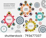business concepts for analysis... | Shutterstock .eps vector #793677337