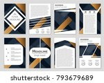 abstract vector layout... | Shutterstock .eps vector #793679689