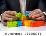 concept of strategy and... | Shutterstock . vector #793680751
