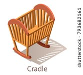 cradle icon. isometric... | Shutterstock .eps vector #793682161