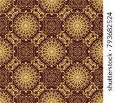 seamless wallpaper pattern.... | Shutterstock .eps vector #793682524