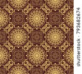seamless wallpaper pattern.... | Shutterstock .eps vector #793682674