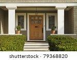 a concrete walkway bordered... | Shutterstock . vector #79368820
