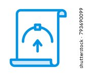 bezier document design  | Shutterstock .eps vector #793690099