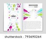 abstract vector layout... | Shutterstock .eps vector #793690264
