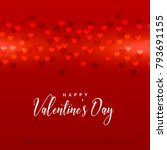 red valentine's day hearts... | Shutterstock .eps vector #793691155