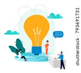 business development  project... | Shutterstock .eps vector #793691731