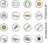 line vector icon set  ... | Shutterstock .eps vector #793695139