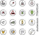 line vector icon set   airport...   Shutterstock .eps vector #793695145