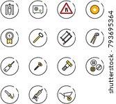 line vector icon set   metal...   Shutterstock .eps vector #793695364