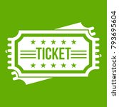 ticket icon white isolated on... | Shutterstock .eps vector #793695604