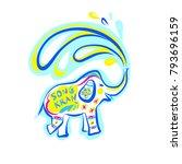 template flyer traditional thai ...   Shutterstock .eps vector #793696159