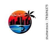 beach logo designs | Shutterstock .eps vector #793696375